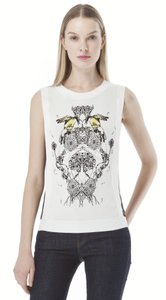 Sachin + Babi Mesh Sleeveless Knit Graphic Top White