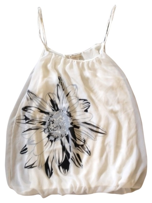 Forever 21 Top Cream with Black and Gray
