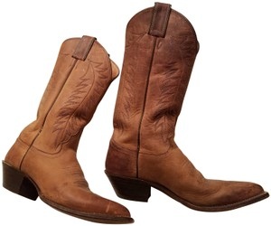 Justin Boots Usa Cowboy Western Brown Boots