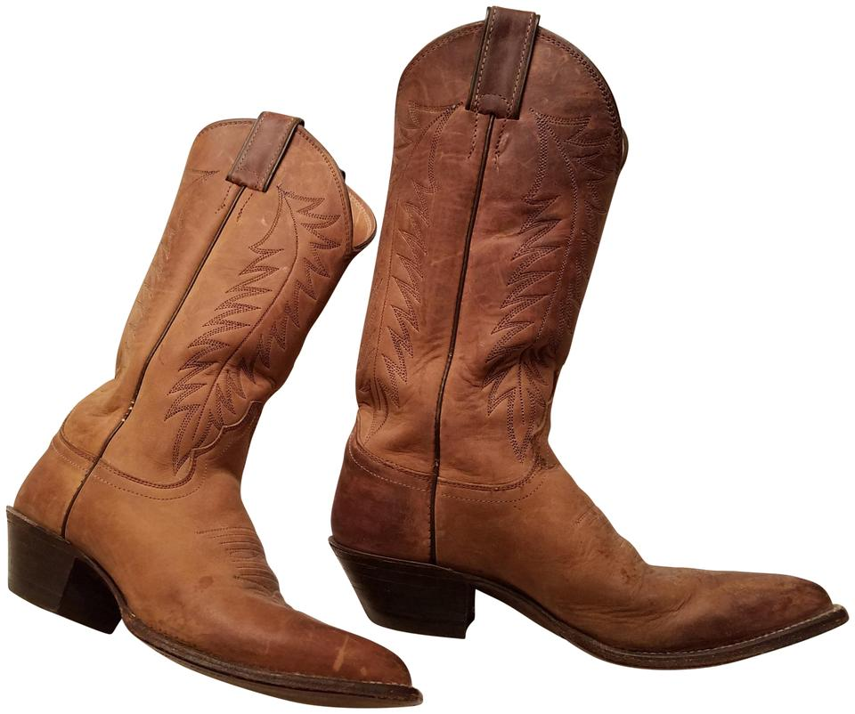 Justin Boots Brown Distressed Tall Cowboy Boots/Booties Size US 5.5 Regular  (M, B)