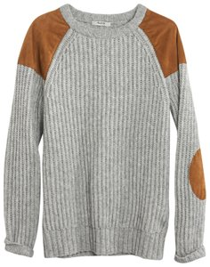 Madewell Elbow Patches Grandpa Grandpa Oversized Vintage Sweater