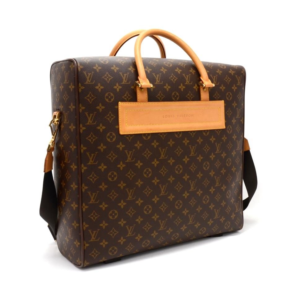 louis vuitton brown monogram canvas weekend travel bag tradesy. Black Bedroom Furniture Sets. Home Design Ideas