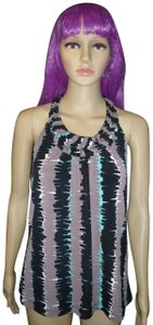 The Limited New With Tags Colorful Zag Holiday Multi-Color Halter Top