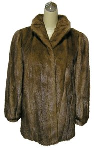 MINK FUR COAT Jacket Real Emba Coat