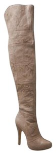 Report Signature Leather Thigh High Over The Knee Leather kakhi Boots