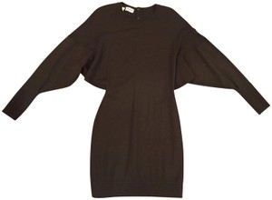 ALAÏA short dress dark brown Sweater Wool Vintage Collectors Ls Made In Italy on Tradesy