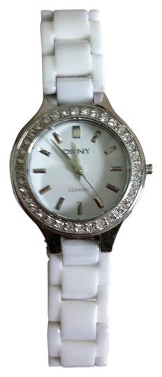 Preload https://item1.tradesy.com/images/dkny-white-porcelain-with-crystal-bezel-watch-2256155-0-0.jpg?width=440&height=440