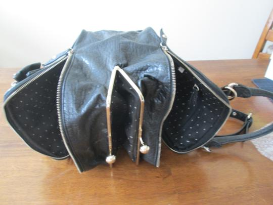 Twin Set Leather Studs Bow Applique Cross Body Tote Shoulder Bag