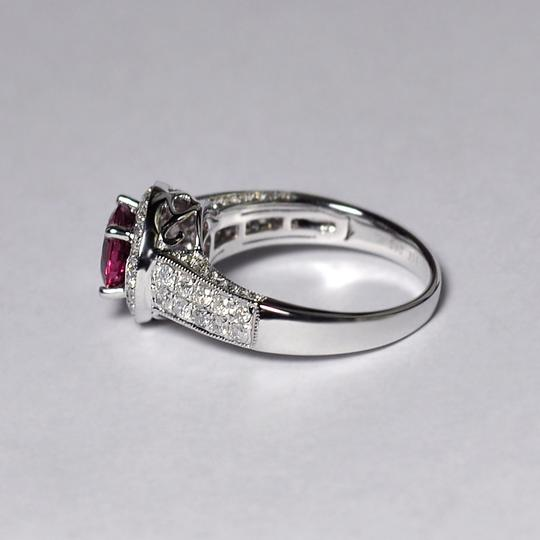 NY Collection Natural Pink Tourmaline Diamond Solitaire Halo Womens Unique 14K Gold Image 5