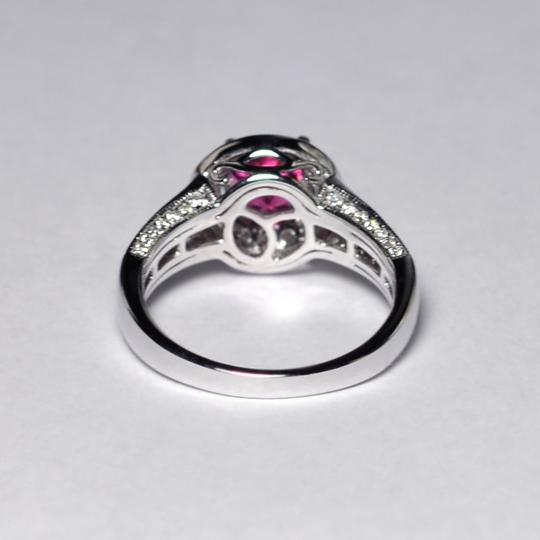 NY Collection Natural Pink Tourmaline Diamond Solitaire Halo Womens Unique 14K Gold Image 6