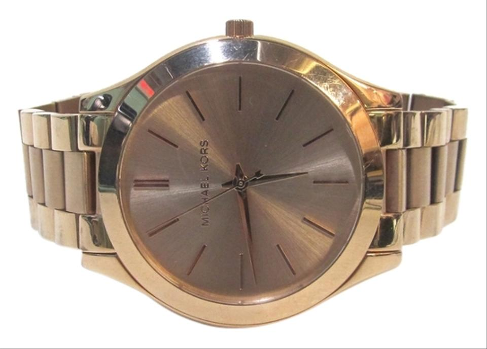 50569965ce1e Michael Kors Michael Kors Women s Watch MK3197 Slim Rose Gold-Tone  Stainless Steel Image 0 ...