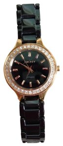 DKNY DKNY Black Porcelain with Crystal Bezel Watch.