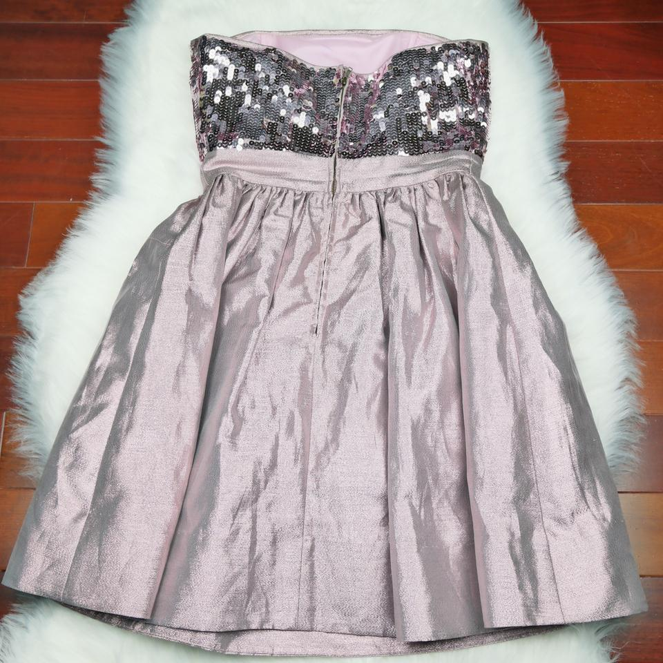 Betsey Johnson Pink Sequin Satin Bow Short Cocktail Dress Size 4 (S ...