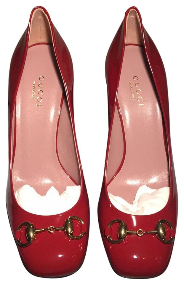 03bc53d9f28 Gucci Rose Bed - (Like A Cherry Red) Jolene Mid Heel Pumps Size EU ...