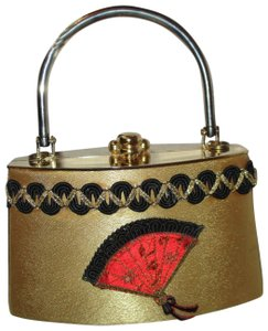 Sasha Evening Clutch Satin Oriental Baguette