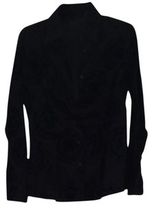 Etro Button Down Shirt Black (two Tones)