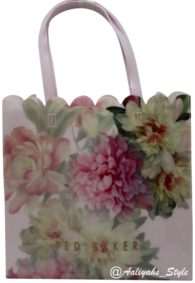0c50bb1ba98 Ted Baker Painted Posie Large Icon Baby Pink Pvc Tote - Tradesy