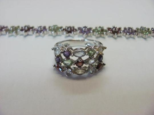 unknown STONES BRACELET AND RING SET MARKED R 925