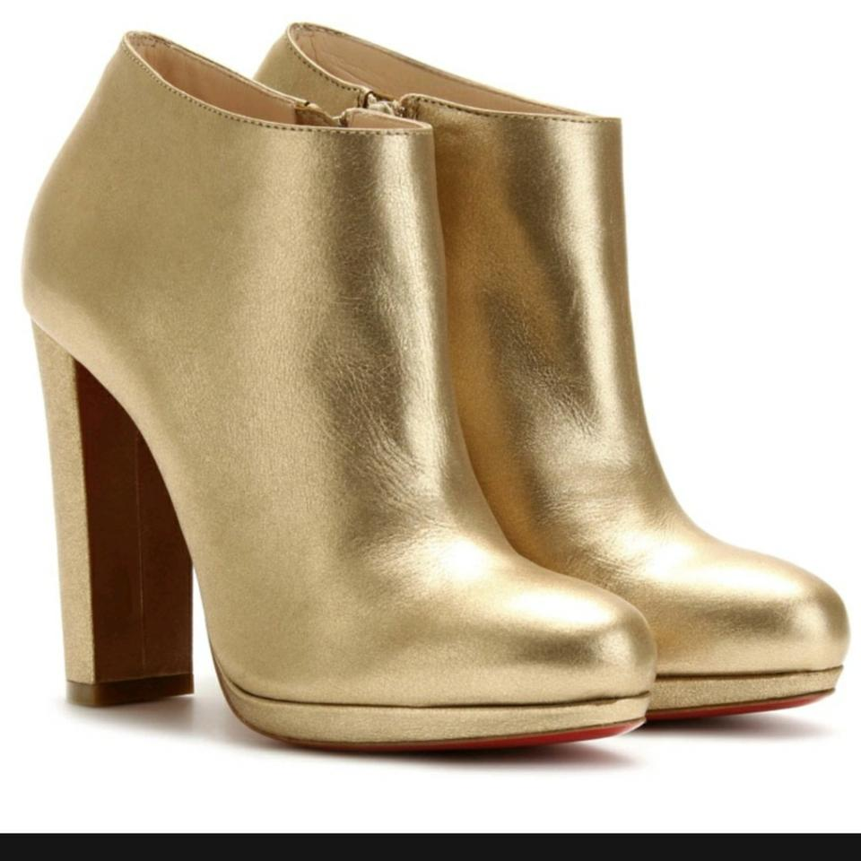 huge discount 2d90e 3907a Christian Louboutin Gold 120 Rock And Boots/Booties Size US 5.5 Regular (M,  B) 30% off retail