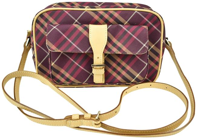 Item - East West Blue Label Red Pink Black White Check Canvas Cross Body Bag