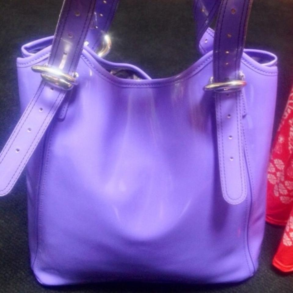 708d0b677 Ted Baker Nwd Xl Purple Patent Leather Tote - Tradesy