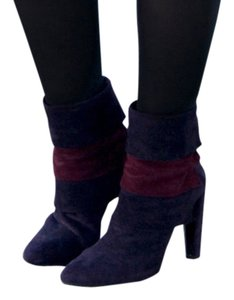 Stuart Weitzman Colorblock Multi-Purple Boots