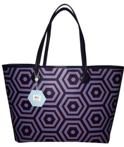 Jonathan Adler Purse Duchess Tote in Navy / red / blue