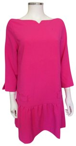 Victoria Beckham short dress fuchsia Pink Drop Waist Jacquard on Tradesy