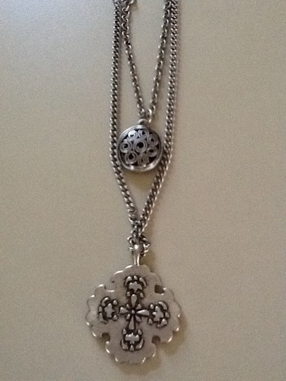 Other 2 in 1 Reversible Silver Tone Necklace
