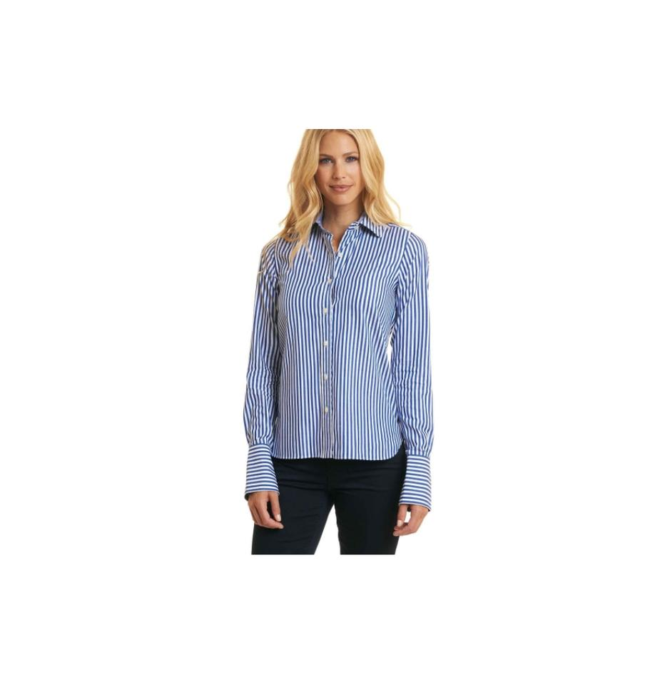 a643b341 Robert Graham Blue Priscilla XS Women's Striped Shirt Button-down ...