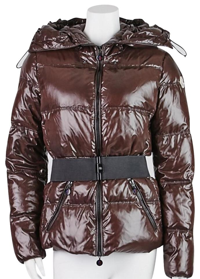 f8de4d3a8 Moncler Brown Quilted Nylon Aliso Down 3 L Jacket Size 12 (L) - Tradesy