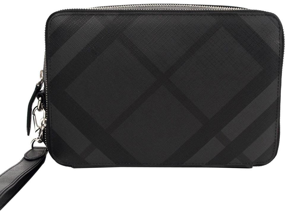 b8cceceec44e Burberry London Check Collection Cormac Double Charcoal Black ...