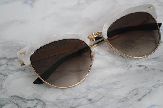 258643f745 Gucci Ivory New 4283 S Mother Of Pearl Cat Eye Wayfarer Sunglasses from   dreamer