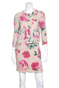 Dolce&Gabbana Dolce & Gabbana Floral Tweed Skirt Suit