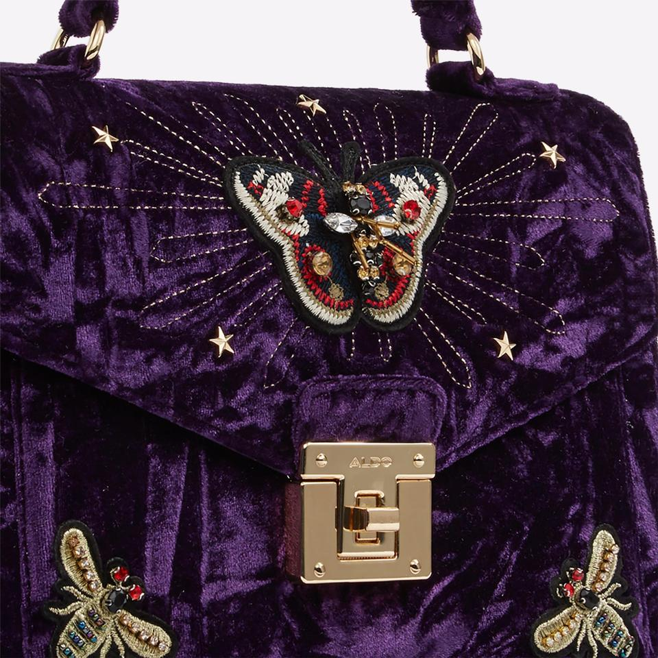 d7638fdc508 ALDO Embellished Vintage Gucci Appliques Velvet Cross Body Bag Image 6.  1234567