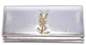 fd28d64098 Added to Shopping Bag. Saint Laurent Ysl Yves Gold Metallic Silver Clutch