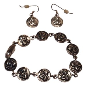 Cherub bracelet and earrings