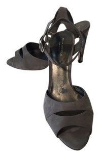 Tania Spinelli Gun Metal Gray Sandals