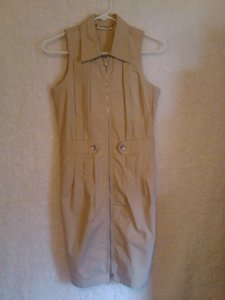 DKNY short dress Tan Urban Safari on Tradesy