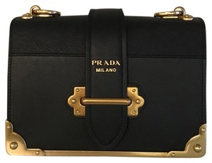 Prada Cahier Velvet Color Shoulder Bag