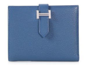 Hermès Medium Bleu Agate Bearn Wallet