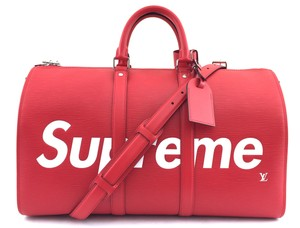 Louis Vuitton x Supreme Limited Edition Vip Only Gym Collector Red Travel Bag