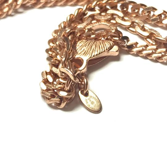 Chanel Rose Gold Chain Necklace/Belt with Pink Rhinestone CC Charms Image 3
