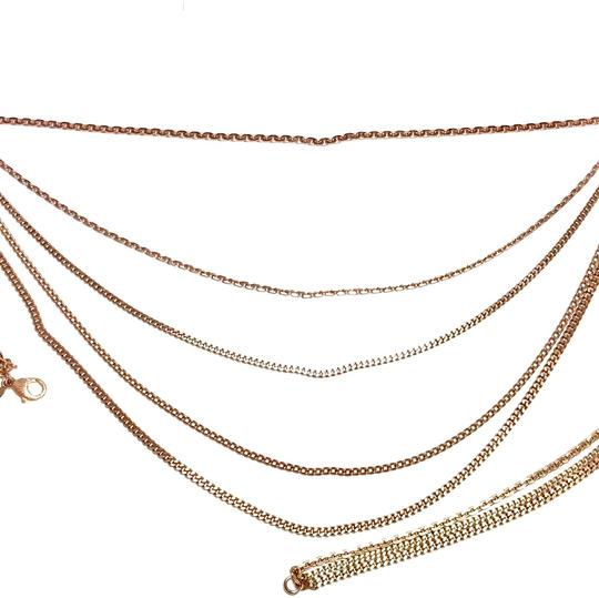 Chanel Rose Gold Chain Necklace/Belt with Pink Rhinestone CC Charms Image 6