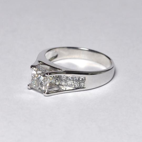 NY Collection White Womens Princess Cut Genuine Diamond Solitaire 18k Gold  Engagement Ring 478667eec