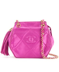 Chanel Vintage Lambskin Tassel Cross Body Bag
