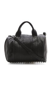 Alexander Wang Rocco Studs Studded Boston Satchel in Black