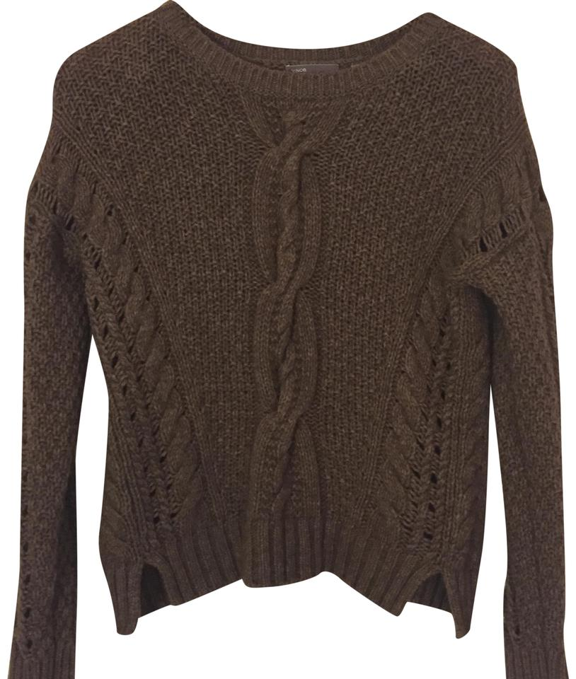 Vince Brown Cable Knit Sweater Size 0 (XS) - Tradesy