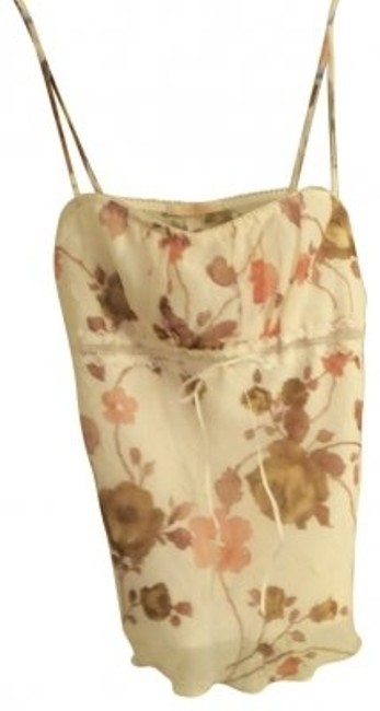 Forever 21 Top Off white w/mauve/taupe flowers