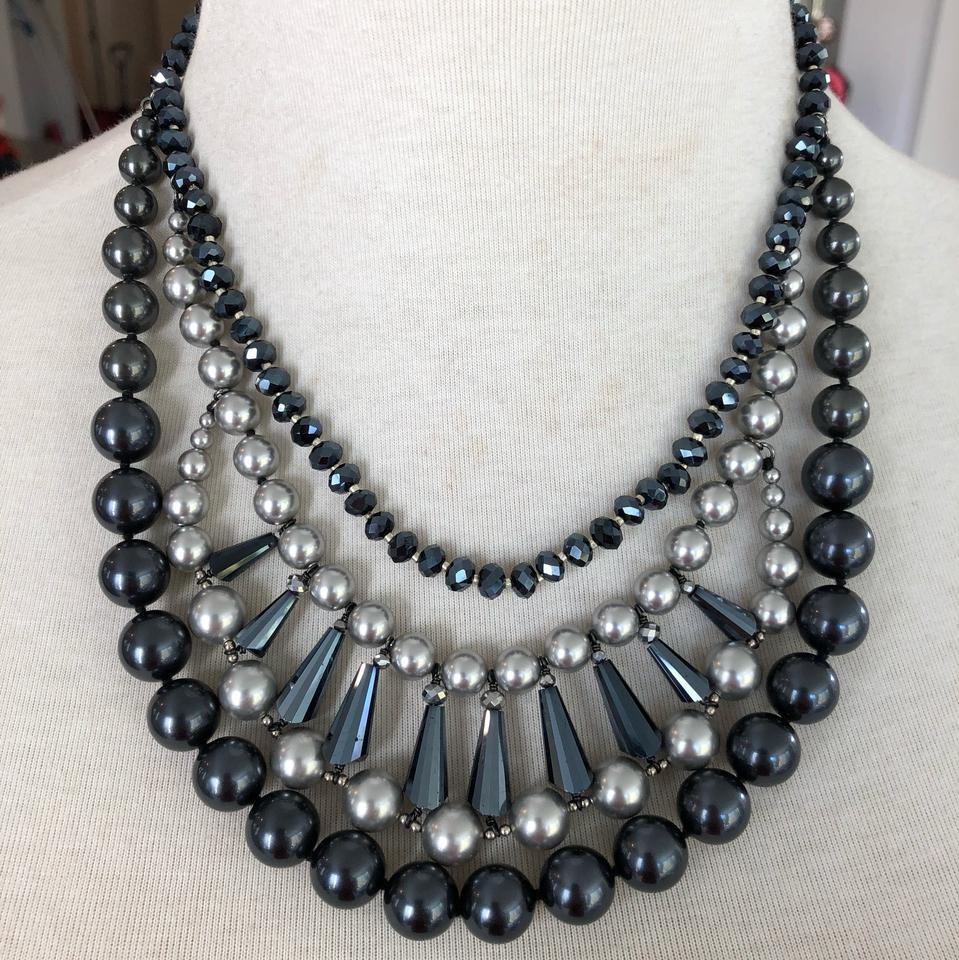 785ad8051f21 Chan Luu Authentic Chan Luu Grey & Black Pearl Mix Statement Necklace Image  0 ...